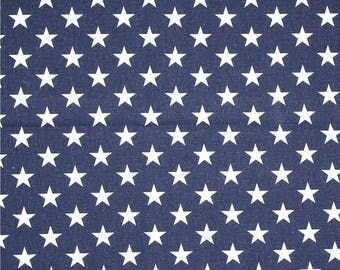 Stars Fabric by the BOLT white with navy blue field American flag Premier Prints home decor upholstery fabrics  30 yards