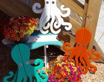 Octopus, Beach House Decor, Coastal Decor, Wood Octopus, Garden Art