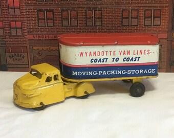Vintage Wyandotte Toy Van Lines Truck