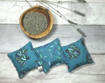 Lavender bag, sachet, pure dried lavender, Yorkshire lavender, blue, scented pouch, flowers, natural moth repellent, one bag