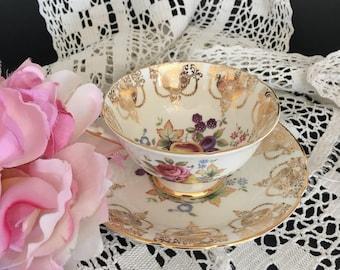 Vintage Antique Paragon English Bone China Tea Cup & Saucer