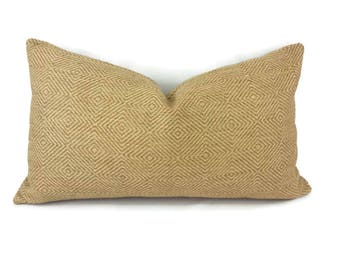 """11.5"""" x 21"""" Cowtan and Tout Darby in the color Toffee Lumbar Pillow Cover"""