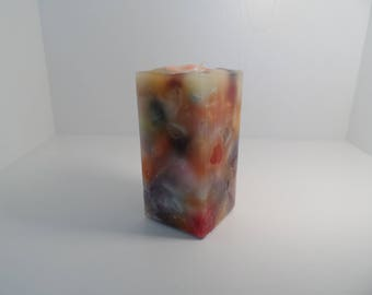 Multicolored Square Scented Pillar Candle