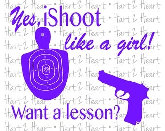Shoot Like a Girl SVG