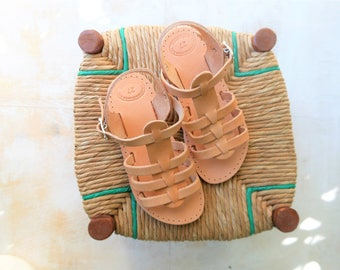50% OFF! Spartan Sandals for Kids, Children Straps Real Leather Sandals, Greek Sandals, Infant Sandals, CHILON the JUNIOR Spartan Sandals