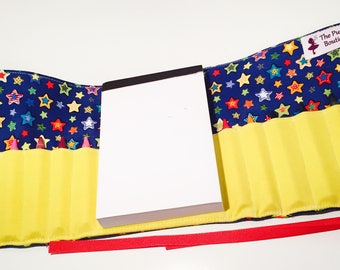 Colorful Stars Crayon Roll with Doodle Pad