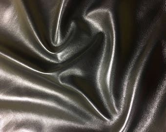 Italian Lambskin Leather lamb Skin Hide Black Gevaudan - 9 Sq.Ft (2 oz)