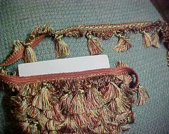 Vintage Trim, Multi Colored Tassells, 5 yards 15 inches,  #3067