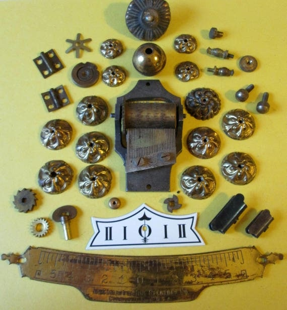 Antique and Vintage Brass Clock and Furniture Accents for your Steampunk Art Projects  - Metalworking - Altered Art  Etc...