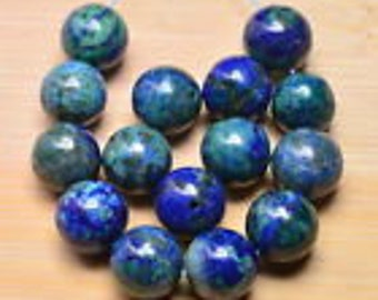 10mm Azurite in Lapis Gemstone  10mm Gemstone Beads           10mm Focal Beads