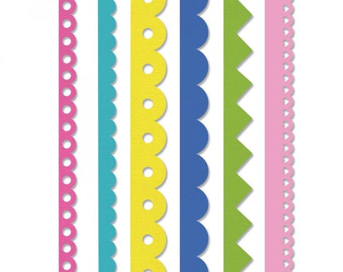 New! Sizzix Edgelits Die Set 6PK - Scallops & Zigzags by Stephanie Barnard 662735