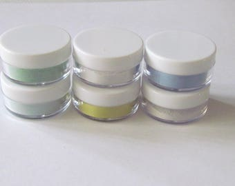 Enamel kit - Starter Kit - set of 6 - Spring/Summer Colors - Enameling Torching Supplies - Thompson enamel - fire torching supplies