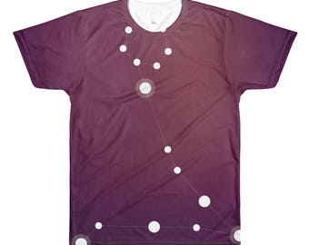 All-Over Printed T-Shirt - Zodiac Pisces Constellation All-Over T-Shirt