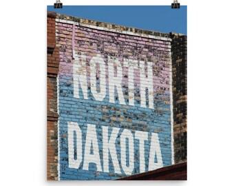 Photo paper poster - Red Silo Original Art - North Dakota Building