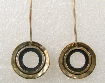Silpada Hammered Sterling Circle Threader Earrings ~ W1654