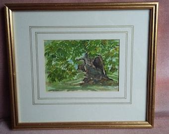 Beautiful Gilt Frames Watercolour 'Chestnut Grove' Jocelyn Tress