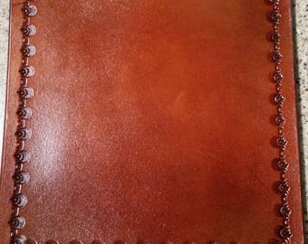 Leather tooled mouse pad,mousepad,leather
