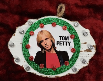 Tom Petty Wooden Plaque Ornament