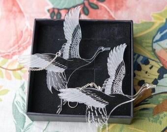 Cranes Earrings