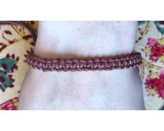 Handmade Brown Hemp Bracelet