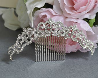 Vintage Inspired bridal hair comb,crystal hair comb,Swarovski hair comb,wedding hair comb,bridal hair accessories,wedding hair, HC077