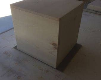 """The Cube -  Storage Box with fitted lid (12"""" by 12"""" by 12"""")"""