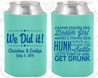 Found his Dream Girl, Found Her Hunk, Lets Get Drunk, Unique Wedding, We Did It, Vintage Wedding, Vintage Favors, Can Covers (516)