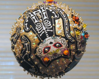 Day Of The Dead cat ornaments