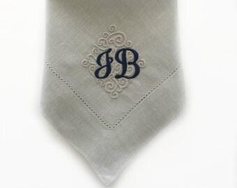 Monogrammed Napkins / Cloth Napkins / Dinner Napkins / Linen Napkins / Table Linens / Personalized two-letter font napkins / Wedding Gift