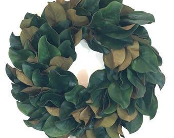 Magnolia Wreath, Magnolia Wreath Fixer Upper, Magnolia Wreaths For Front Door, Farmhouse Wreath, Fixer Upper Wreath, Year Round Wreath