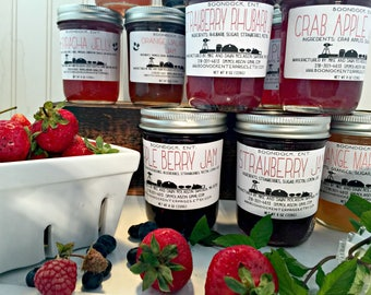 3 Jams a Month for (3) (6) or (12) months - Free Shipping - Jam of the Month Club -  Monthly Jam Gift Subscription - Jelly of the Month Club