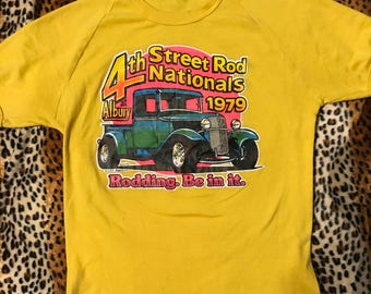Vintage 1979 hot rod t shirt