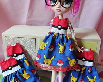 Pikachu Pokémon for Pullip dress
