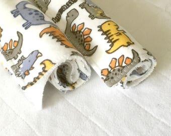 Baby gift under 20, bib and burp cloth, dinosaur baby gift, newborn burp cloth, newborn drool bib, new baby gift set, flannel gift set