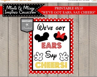SALE INSTANT DOWNLOAD Girl and Boy Mouse Printable 8x10 We've Got Ears, Say Cheers Party Sign / Girl & Boy Mouse Collection / Item #2103