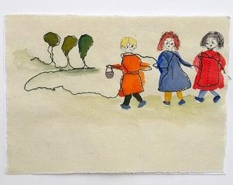 Three friends-Original Painting