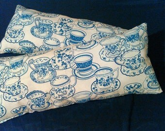 Two small decorative pillows