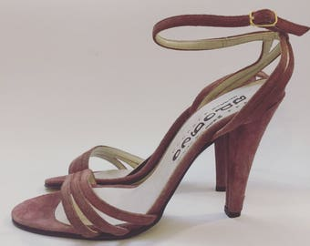 Sandals sandals vintage seventies eighties heels pink