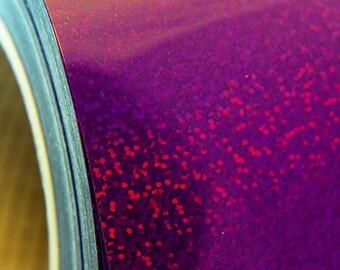 "Holographic Purple 20"" Heat Transfer Vinyl Film By The Yard"