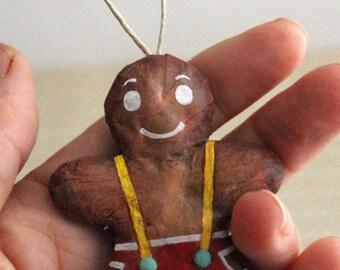 Little 6 cm #12 Christmas ornament gingerbread man
