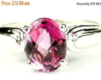 On Sale, 20% Off, Pure Pink Topaz, 925 Sterling Silver Ring, SR058