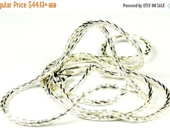 On Sale, 20% Off, Wheat Chain, 925 Sterling Silver Diamond Cut , 1.75mm