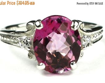On Sale, 30% Off, Pure Pink Topaz, 925 Sterling Silver Ring, SR136