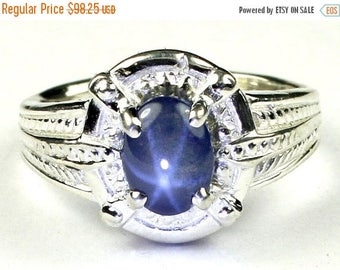 On Sale, 30% Off, Blue Star Sapphire, Sterling Silver Ring, SR284