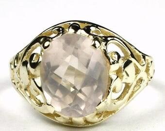 On Sale, 30% Off, Rose Quartz, 14KY Gold Ring R004