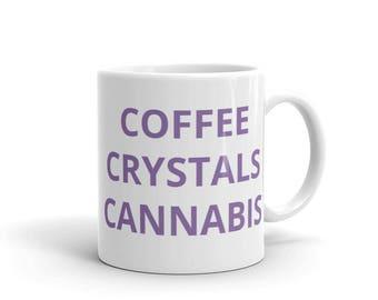 Coffee Crystals Cannabis Mug