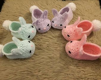 Crochet Bunny Baby slippers booties