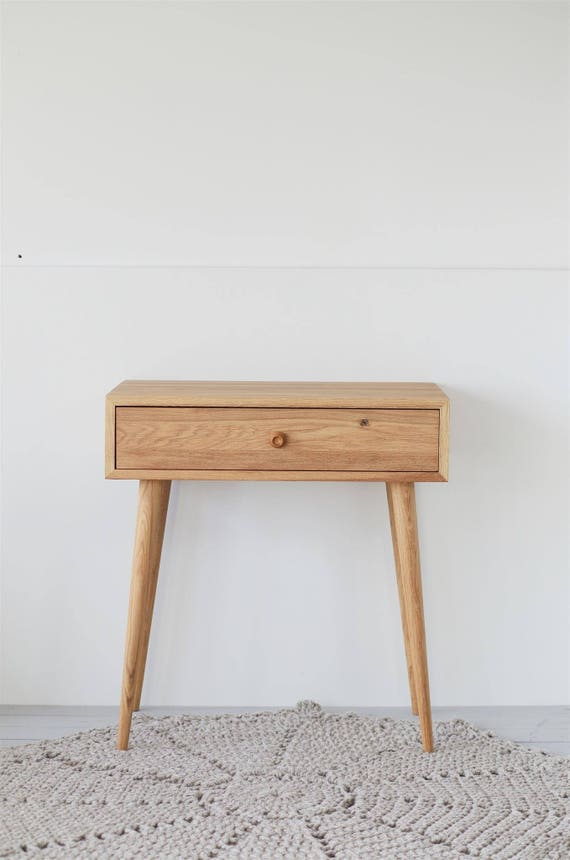 Solid oak wood desk Console Dressing table Home Office