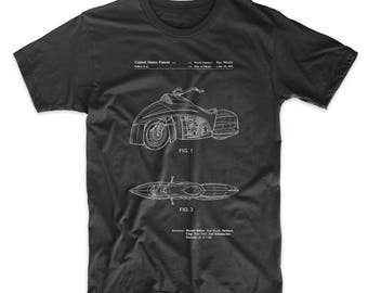 Robin Motorcycle Patent T Shirt, Batman and Robin, Movie Shirt, Batman Shirt, PP1015