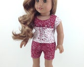 """18T Sweet and Sassy - Top, Shorts and Sandals for 18"""" dolls like American Girl (R) Luciana, Lea, Tenney, Grace, McKenna, Kit and Saige"""